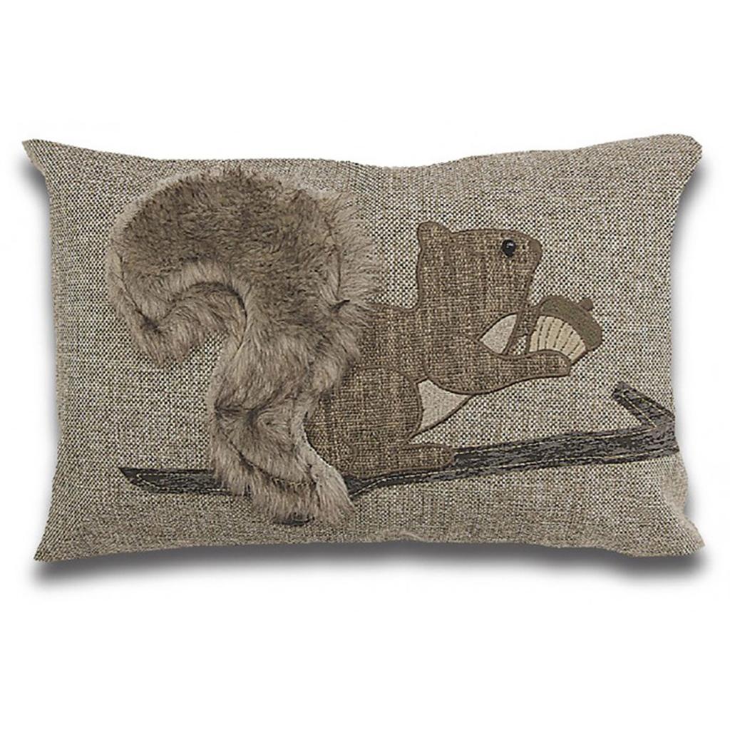 coussin rectangulaire cureuil avec fausse fourrure tanguay. Black Bedroom Furniture Sets. Home Design Ideas