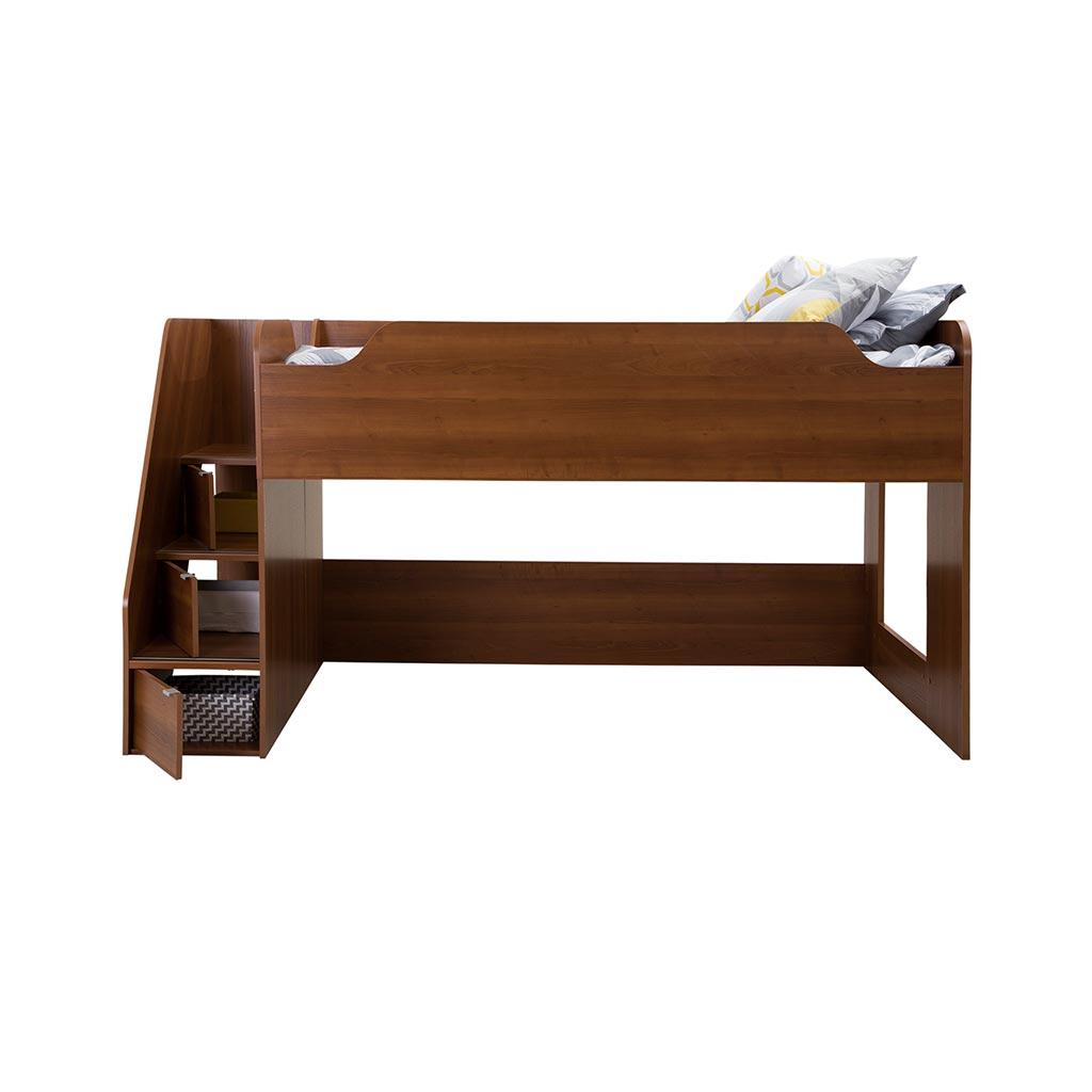 lit mezzanine simple avec escalier tanguay. Black Bedroom Furniture Sets. Home Design Ideas