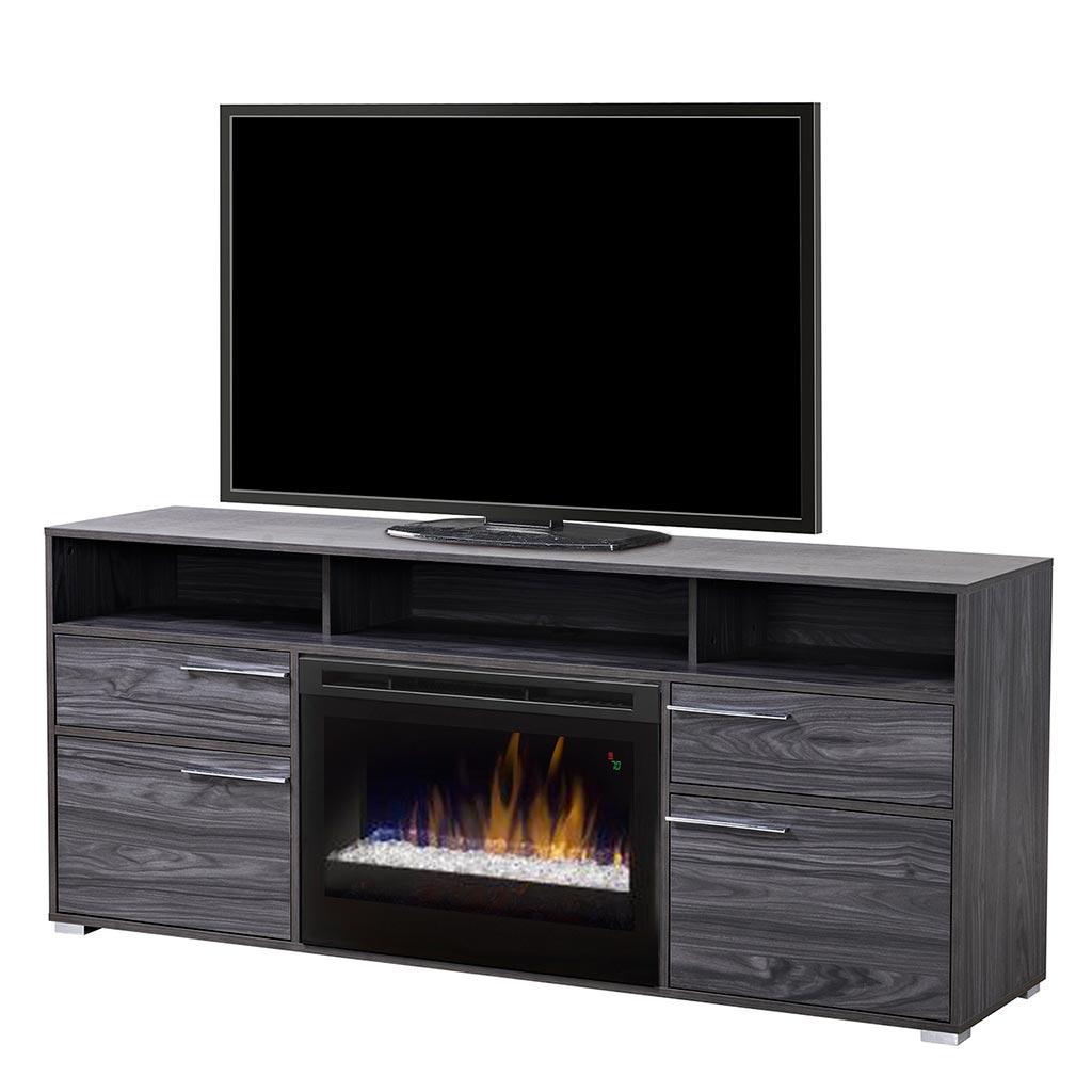 meuble t l 66 po avec foyer int gr tanguay. Black Bedroom Furniture Sets. Home Design Ideas