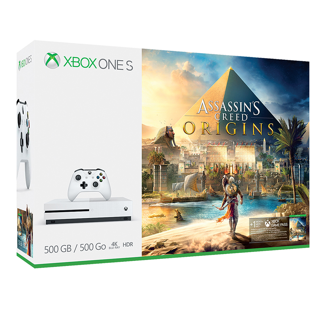 Console xbox one s 500go assassin 39 s creed origins tanguay for Meuble xbox one