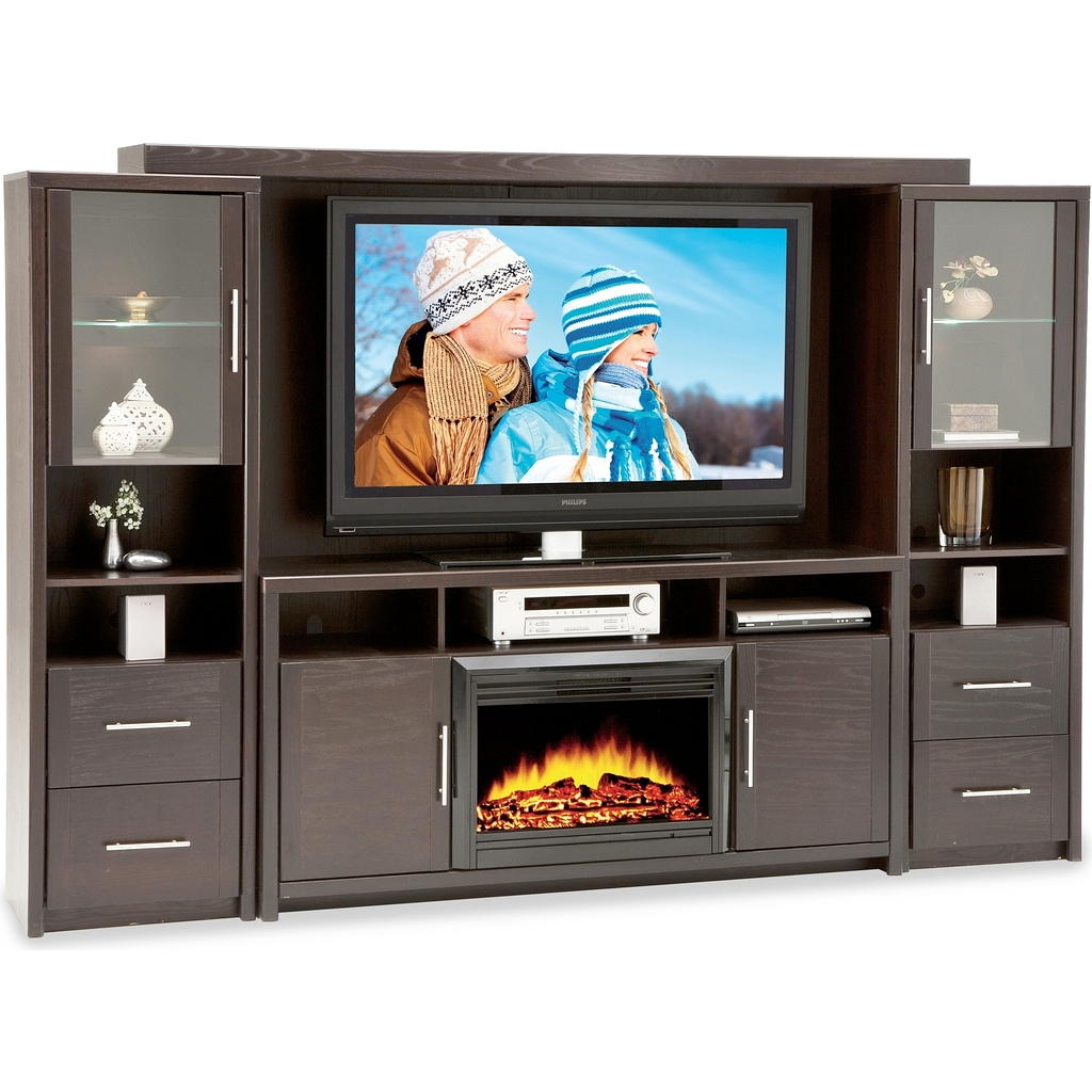 Meuble Tv Avec Foyer Integre: Avec foyer accueil meuble de salon tv ...