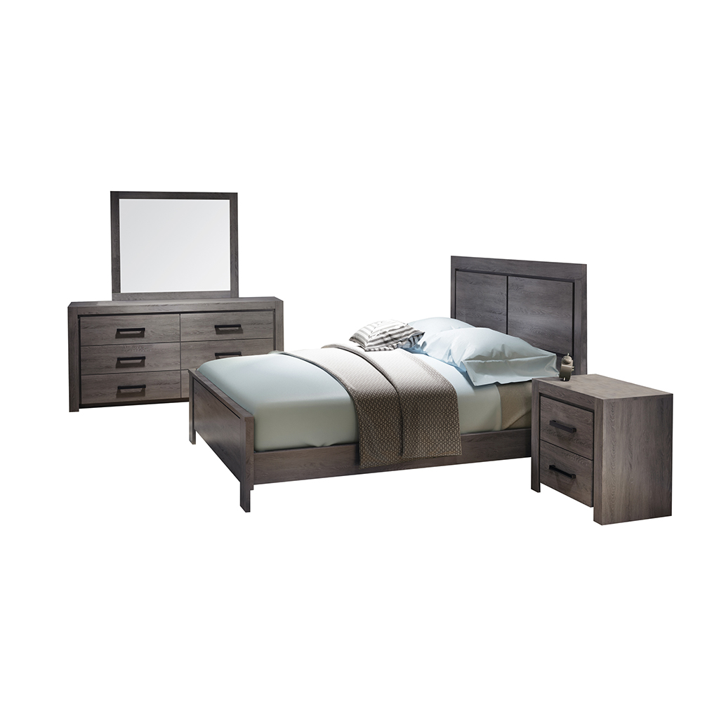 Mobilier de chambre coucher queen grand 2 places tanguay for Mobilier chambre coucher