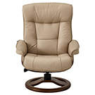Fauteuil inclinable en cuir