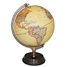 Globe terrestre lumineux crème