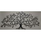 Appliqué mural en métal et brillants d'un arbre