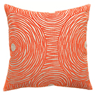 Coussin carré swirl orange