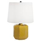Lampe de chevet base en céramique jaune