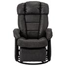 Chaise berçante pivotante et inclinable avec repose-pieds