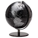 Globe terrestre noir