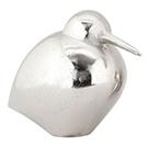 Oiseau décoratif Dodo II en aluminium fini argent poli