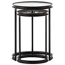 2 tables gigognes design industriel