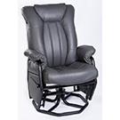 Chaise berçante pivotante et inclinable