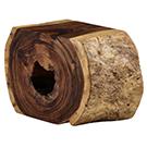 Banc de bois naturel 19po de hauteur