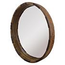 Miroir Industria en bois de manguier