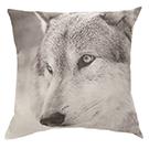 Coussin carré imprimé loup