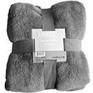 Jeté gris 100% polyester