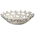 Assiette décorative en aluminium