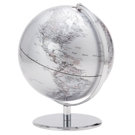 Globe terrestre argent