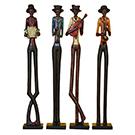 4 statuettes en bois