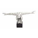Sculpture Homme céramique argentée