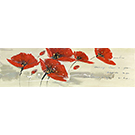 Toile Coquelicots rouges II 60x20po