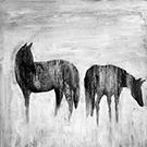 Toile de chevaux 36x36po