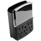 Barre d'alimentation/parasurtenseur 3 prises 4 USB