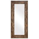 Miroir mural en bois de teck