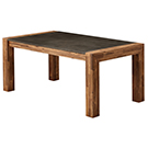 Table à manger en acacia avec dessus en béton
