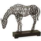 Sculpture cheval en broche de métal