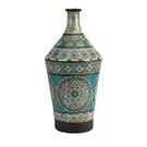 Vase en terracotta Kabir peint à la main