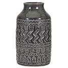 Vase décoratif texturé gris