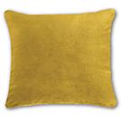 Coussin de velours jaune