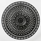 Appliqué mural Mandala en métal