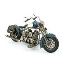 Moto décorative en métal bleu