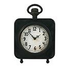 Horloge de table en métal noir