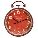 Horloge murale rouge 16x20po
