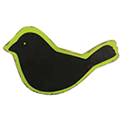 Tableau noir en bois en forme d'oiseau
