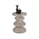 Table d'appoint en ciment gris anthracite