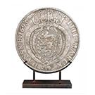 Médaillon romain antique en résine et métal argent