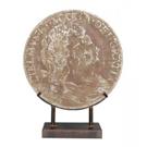 Médaillon romain antique en résine et métal Cuivre