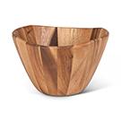 Bol décoratif en bois d'acacia