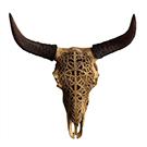 Crâne décoratif en polyrésine