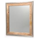 Miroir en bois naturel et métal