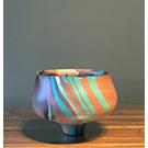 Bol décoratif en bois de manguier - Turquoise
