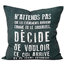 Coussin N'attends pas...