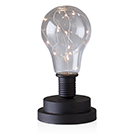 Lampe de table mini DEL en métal noir