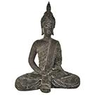 Sculpture Méditation assise en résine
