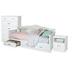 Mobilier de chambre à coucher lit simple 3 mcx