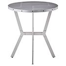 Table ronde hauteur de comptoir style industriel